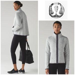 Lululemon It's Fleecing Cold Jacket Heathered Grey
